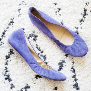 J. Crew Purple Suede Ballet Flat 9